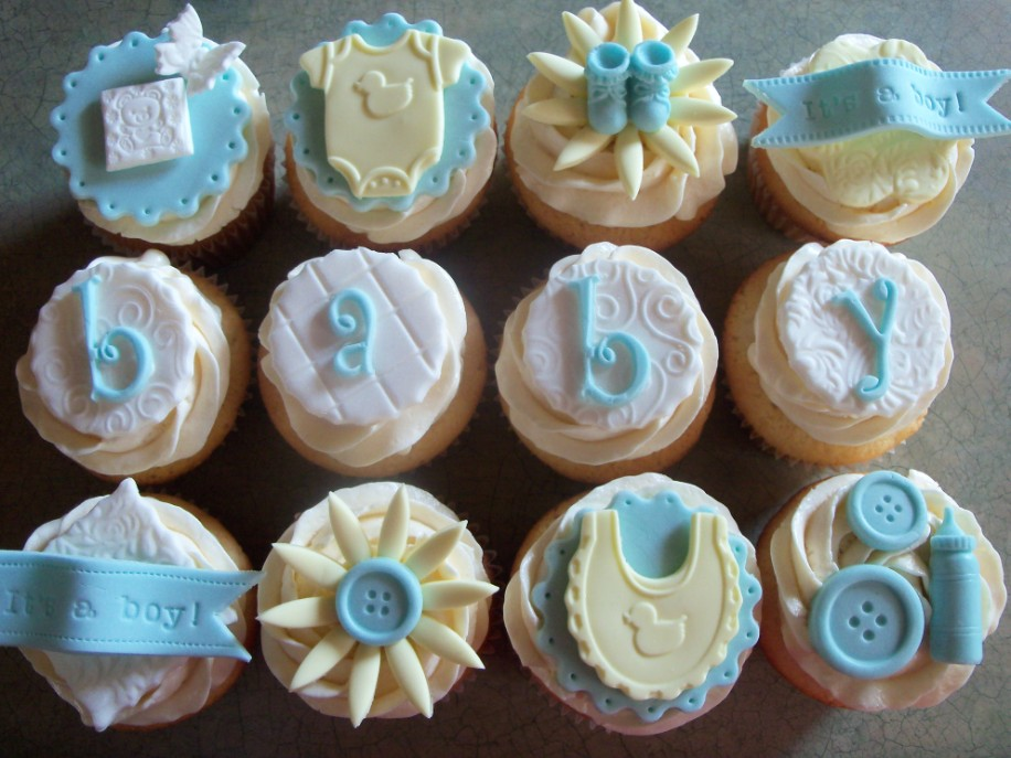 pics photos baby shower cupcakes boys